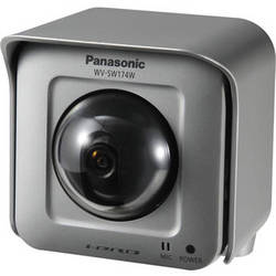 Panasonic WV-SW174W HD Outdoor Pan-Tilt Wireless Network Camera with 1.95mm Fixed Lens (Silver)