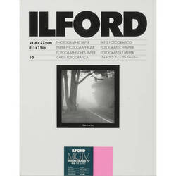 """Ilford Multigrade IV RC DeLuxe Paper (Glossy, 8.5 x 11"""", 50 Sheets)"""