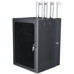 "Middle Atlantic CableSafe Cabling Wall Mount Rack with Plexi Door (20"" Useable Depth)"