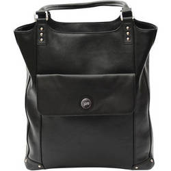 Jill-E Designs Laptop Tote - Black Leather