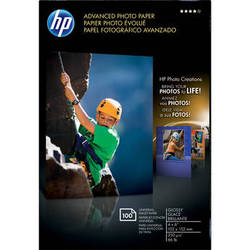 "HP Advanced Photo Paper Glossy Borderless (A6) 4x6"" - 100 Sheets"