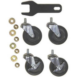 """Hannay Reels 3"""" OD Caster Kit with Wrench and Hex Nuts for AV-2 / AVD-2 Reel"""