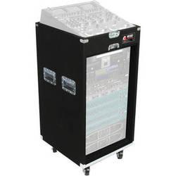 Odyssey Innovative Designs CXP1118W Carpeted Console Rack Case {Black}
