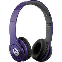 Beats by Dr. Dre Solo HD - On-Ear Headphones (Grape Purple) with Mic/Remote Control on Cable