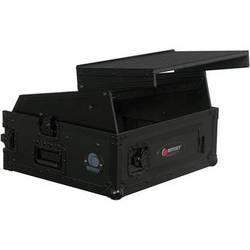 Odyssey Innovative Designs FZGS1002BL Black Label Flight Zone Glide Style Combo Rack - 10U Over 2U (Black)