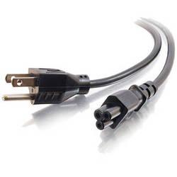 C2G 6ft 18 AWG 3-Slot Laptop Power Cord (NEMA 5-15P to IEC320C5)