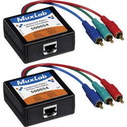 MuxLab 500054 Component Video/IR Pass-Thru Balun (Male), 2-Pack