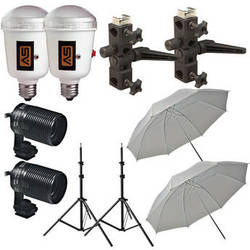 Morris Two AC Flash Umbrella Kit (110-130 VAC)