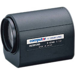 "computar H6Z0812MS 1/2"" f1.2 6x Motorized Zoom Lens (C-Mount, 8 to 48mm)"