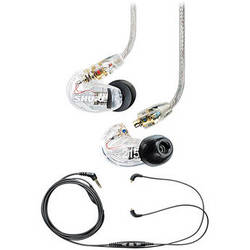 Shure SE215 Sound-Isolating In-Ear Stereo Earphones (Clear) with Mic & Remote Cable Kit
