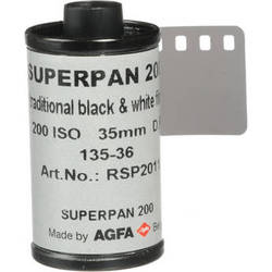Rollei Superpan 200 Black and White Negative Film (35mm Roll Film, 36 Exposures)