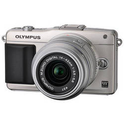 Olympus E-PM2 Mirrorless Micro Four Thirds Digital Camera with 14-42mm f/3.5 - 5.6 II Lens (Silver)