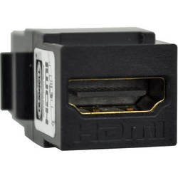 FSR SS-HDMI-BLK HDMI Pass through Snap-In Connector (Black)