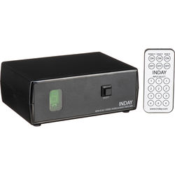 Inday 4x1 Stereo Audio & Composite Video Switcher with IR Remote