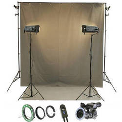 Reflecmedia RM 7227DS 7.0 x 12' Wideshot All In One Bundle with Small Dual LiteRing