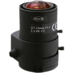 "Kowa LMVZ272A - 1/3"" 2.7 to 12mm Varifocal Auto Iris Lens (DC)"