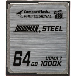 Hoodman 64GB CompactFlash Memory Card Professional STEEL 1000x UDMA