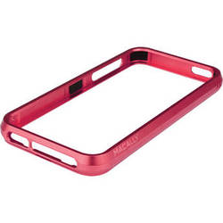 Macally Aluminum Frame Case for iPhone 5 (Red)