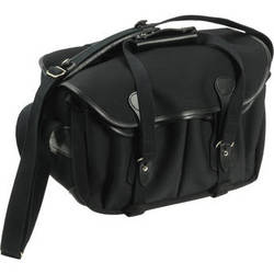Billingham 335 Shoulder Bag (Black with Black Leather Trim)