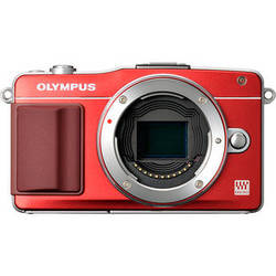 Olympus E-PM2 Mirrorless Micro Four Thirds Digital Camera Body (Red)