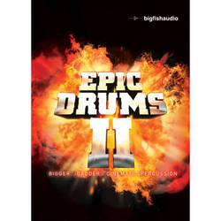 Big Fish Audio Epic Drums II DVD (Apple Loops, REX, WAV, RMX, & Acid Formats)