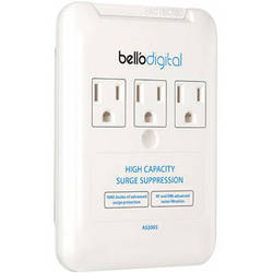 Bell'O 3 Outlet Appliance Surge Protector (White)