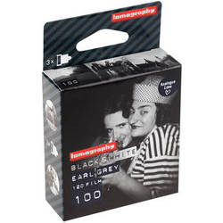 Lomography Earl Grey 100 Black and White Negative Film (120 Roll Film, 3 Pack)