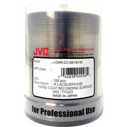 JVC DVD-R 4.7GB 16x Thermal Printable Disc (Spindle Pack of 100)