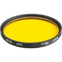 Hoya 55mm Yellow #Y52 (HMC) Multi-Coated Glass Filter
