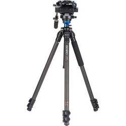 Benro C2573FS6 S6 Video Head and CF Flip Lock Legs Kit