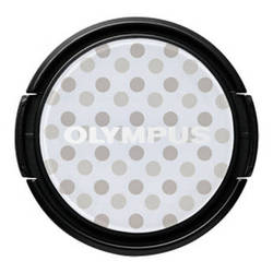 Olympus LC-37PR Gray Polka Dot Decorative Lens Cap