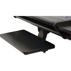 Omnirax KMSOM-B Adjustable Keyboard / Mouse Shelf for OmniDesk (Black Melamine)