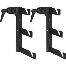 Impact Triple Background Hooks with Super Clamps - Pair (Black)