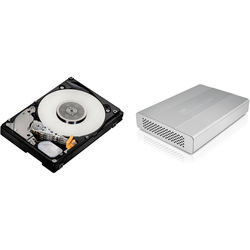 """HGST 1TB Travelstar 2.5"""" Mobile Hard Drive with Interface Case Kit"""