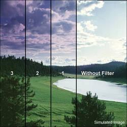 "Tiffen 6 x 6"" 2 Grape Soft-Edge Graduated Filter"