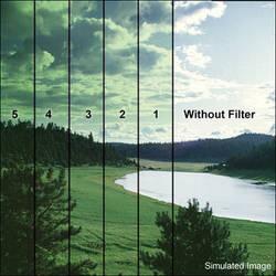 """Tiffen 5.65 x 5.65"""" 3 Green Soft-Edge Graduated Filter"""