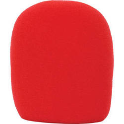 Galaxy Audio WS-HR Windscreen for Wired Handheld Microphones (Red)