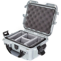 Nanuk 905 Case with Padded Dividers (Silver)