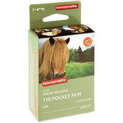Lomography Tiger Color Negative Film (110 Cartridge, 24 Exposures, 3 Pack)