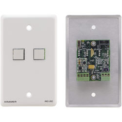 Kramer RC-20TB 2-Button Contact Closure Switch with Wall Plate Insert
