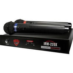 Nady Dual Infrared Wireless System with 2 Handheld Wireless Microphones