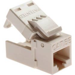 Platinum Tools EZ-SnapJack Cat5e Brown , (4 Pieces)