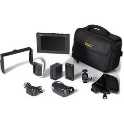 "ikan D5w 5.6"" 3G-SDI Field Monitor with Waveform, Canon LP-E6 Deluxe Kit"