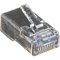 Platinum Tools Shielded EZ-RJ45 Connectors for CAT5e & CAT6 with Internal Ground (Bag Packaging, 50-Pieces)