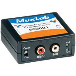 MuxLab 500081 Digital to Analog Audio Converter and Downmixer (Dolby Digital)