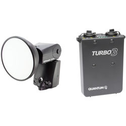 Quantum Instruments Qflash TRIO Flash Kit with Turbo 3 Battery Pack for Canon Cameras