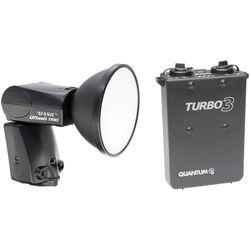 Quantum Qflash TRIO Basic Flash Kit with Turbo 3 Battery Pack for Nikon Cameras