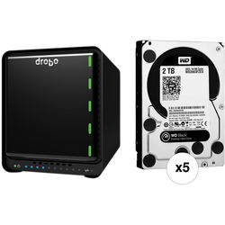 Drobo 10TB (5 x 2TB) 5N 5-Bay NAS Gigabit Ethernet Storage Array Kit with Hard Drives