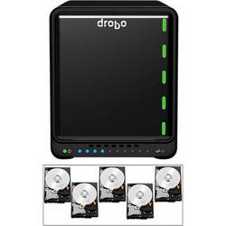 Drobo 20TB (5 x 4TB) 5N 5-Bay NAS Gigabit Ethernet Storage Array Kit with Hard Drives