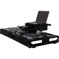 """Odyssey Innovative Designs Flight FX3 - 3 LED Panel Glide Style DJ Coffin for 2 Turntables in Battle Mode & 12"""" Mixer"""